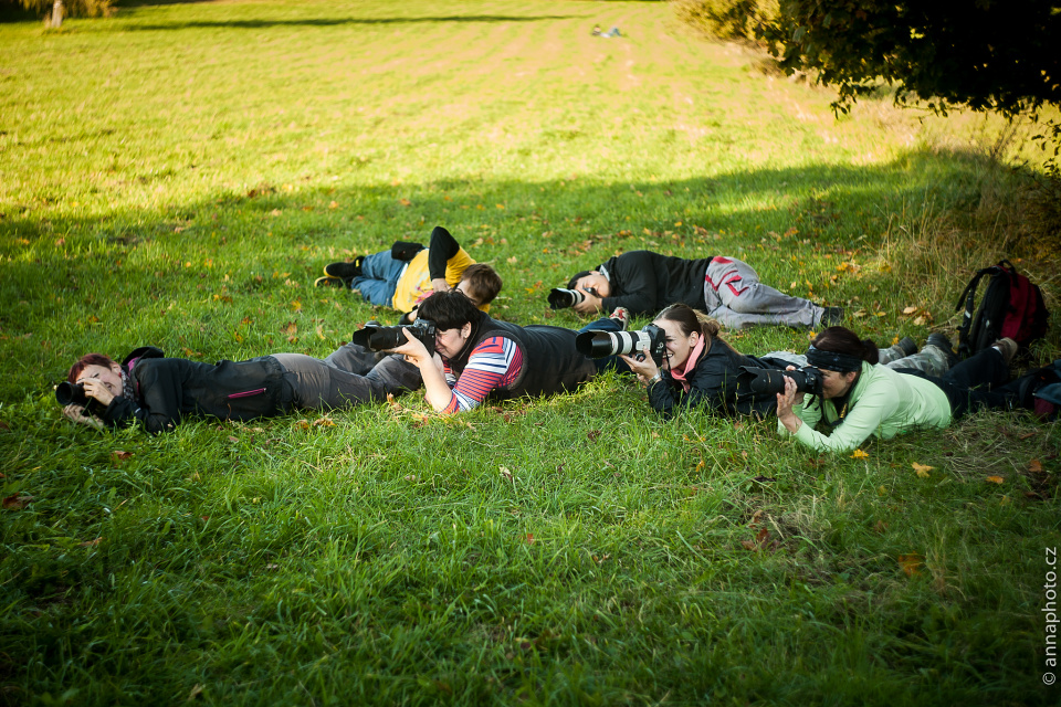 4 z 5 účastníků se 70-200 objektivem (autor: Anna Postnikova)