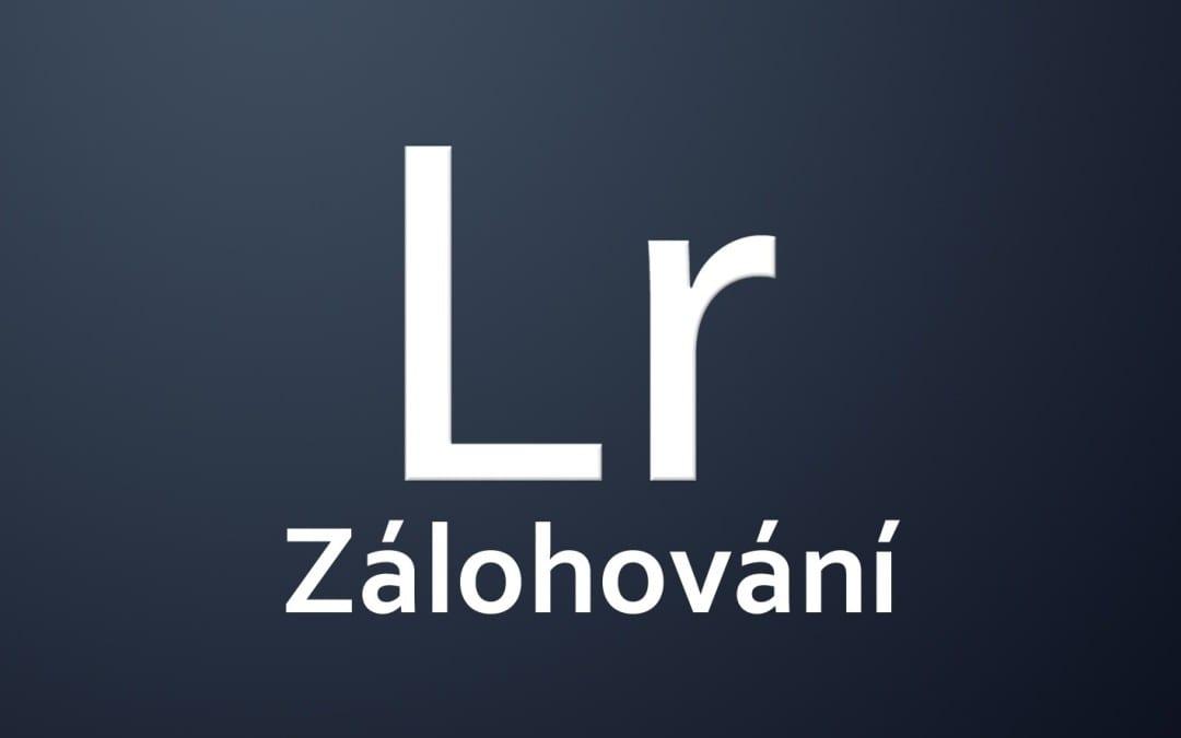 Lightroom – zálohování