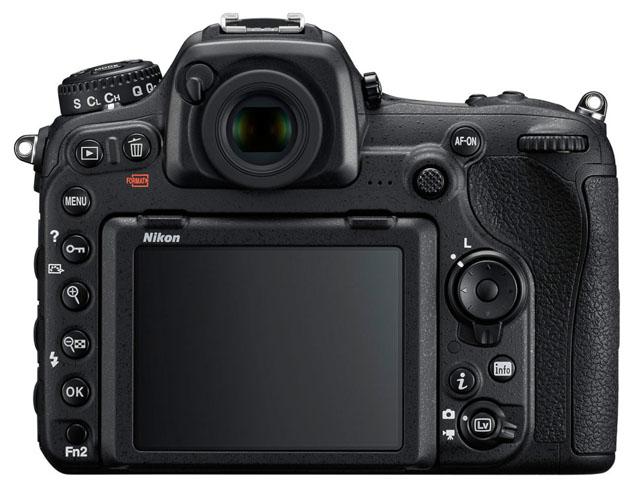 Rozložení tlačítek Nikonu D500 - zezadu