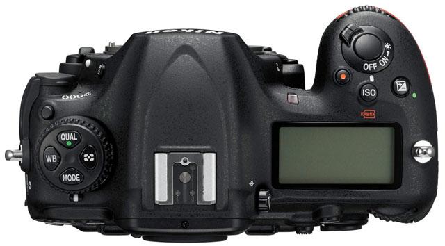 Rozložení tlačítek Nikonu D500 - shora