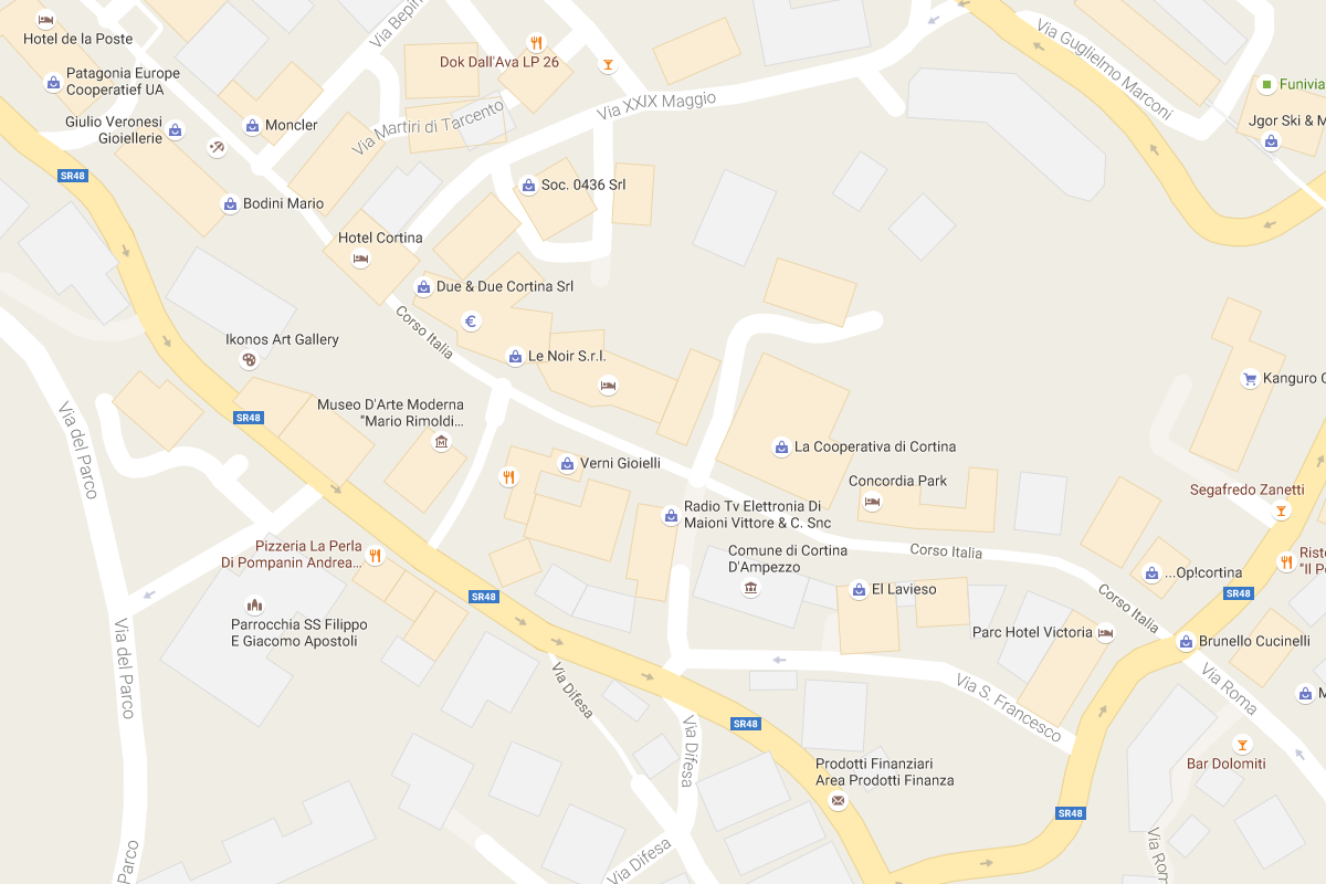 Mapy Google - Dolomity
